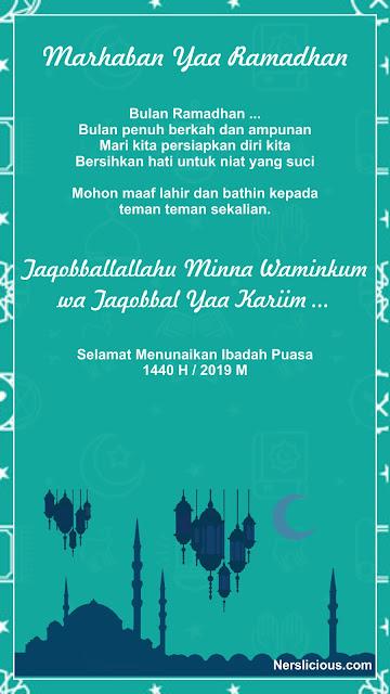 Ucapan Ramadhan 2019 Nerslicious