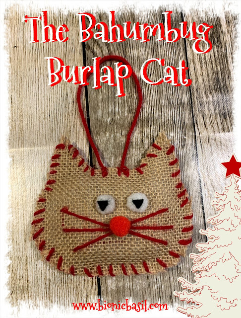 Crafting with Cats Catmas Special - Part 2 ©BionicBasil® The Bahumbug Burlap Cat Tree Decoration