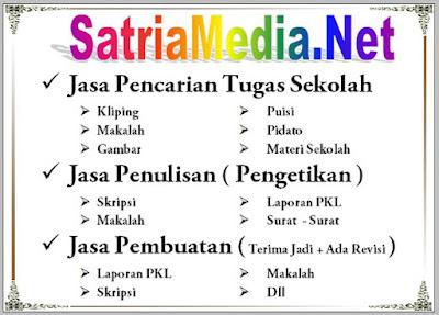 Jasa Tugas Sekolah Dan Kuliah SatriaMedia Net