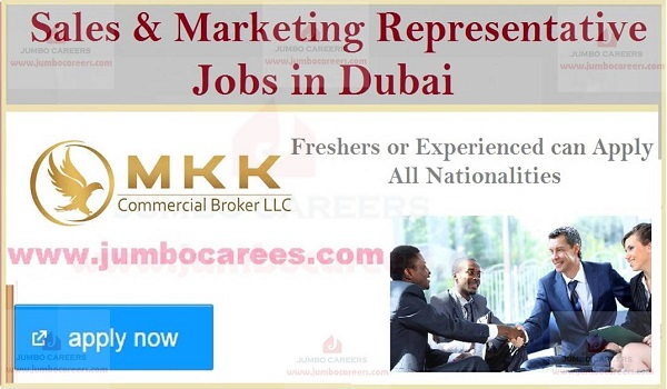Freshers jobs in Dubai, Available sales jobs in Gulf countries,
