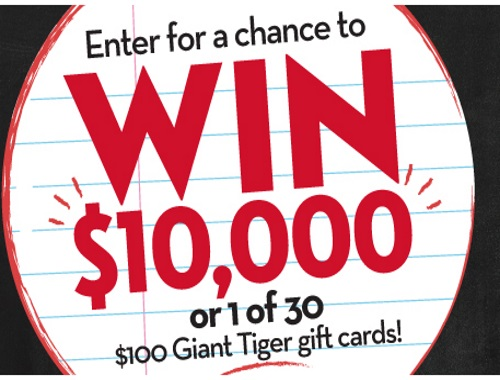Giant Tiger Back To School Contest