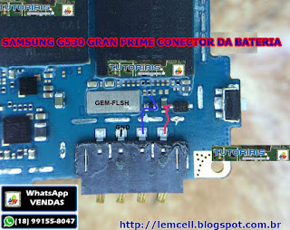 Samsung G530 Gran Prime Solução Jumper Conector da Bateria