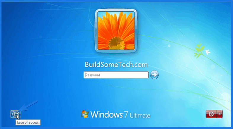 Windows 7 Login Screen