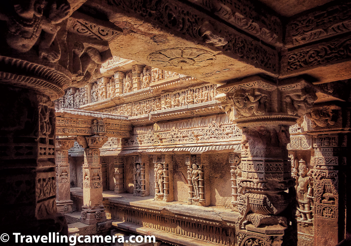 Rani ki Vav is a stepwell situated in the town of Patan in Gujarat state of India, which is located on the banks of Saraswati river. This stepwell was rediscovered in 1940s and restored in 1980s by the Archaeological Survey of India. It has been listed as one of UNESCO's World Heritage Sites since 2014.    Related Blogpost from Gujrat - Modhera Sun Temple - A Brilliant Place to see in Gujrat, India