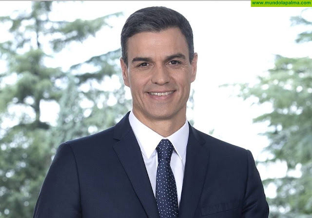 El presidente Pedro Sánchez se solidariza con los vecinos de Garafía