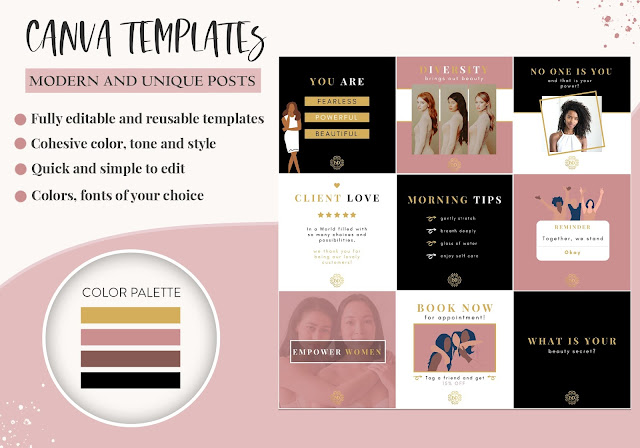 Canva instagram post template - Instagram Posts and Stories Templates with Canva #socialmediatemplates #socialmedia