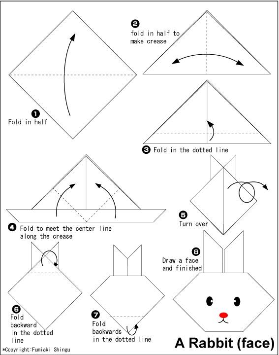 හාවෙකුගේ මුහුණ හදමු (Origami Rabbit(Face)) - Your Choice Way