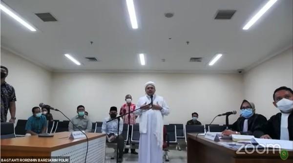 Habib Rizieq Tak Ikuti Sidang Virtual, Hakim Tetap Lanjutkan Sidang Dakwaan