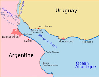Map of Río de la Plata