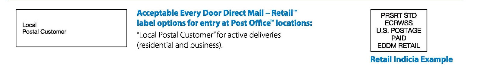 usps every door direct mail template - eddm indicia gallery