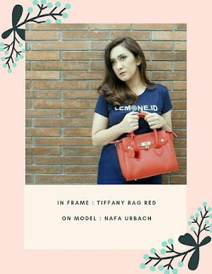 Nafa Urbach and JH Tiffany Bag Red