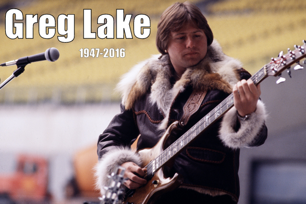 Greg Lake tocando la guitarra