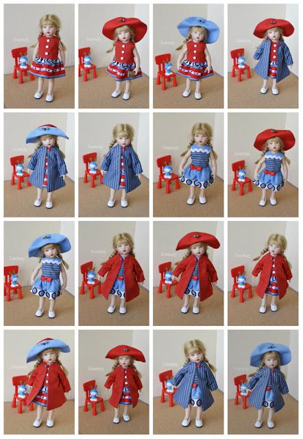 одежда для кукол, двустороннее платье