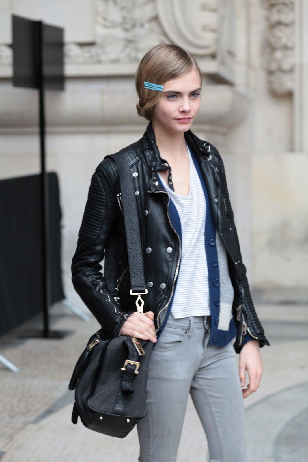 Fashion Week Street Style Cara Delevingne The Front Row