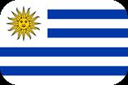 Rounded flag of Uruguay