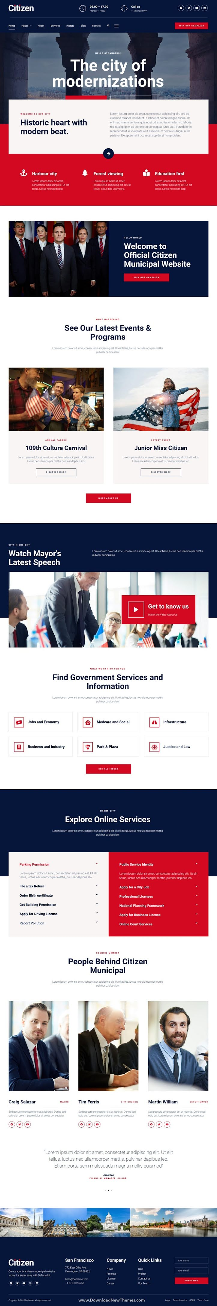 City Government & Municipal Elementor Kit