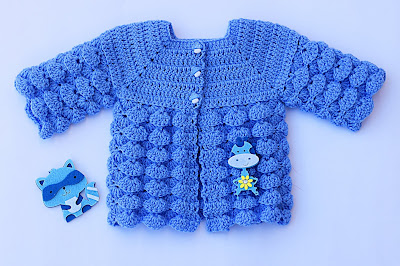 3 - Imagen chambrita de abanicos en relieve a crochet. Majovel crochet