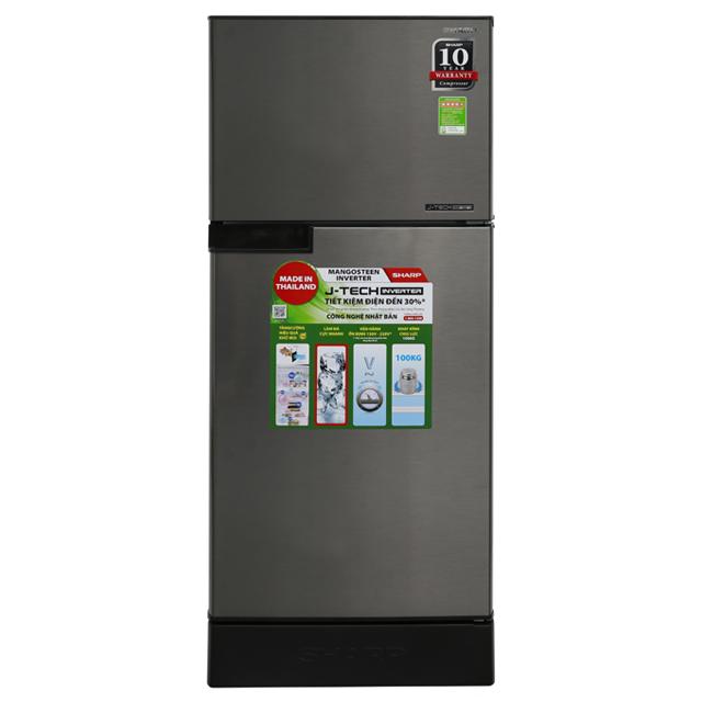 Tủ lạnh Sharp SJ-X201E-SL, 196 Lít, 2 cánh