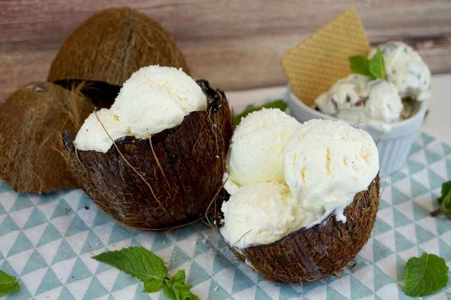 helado de coco sin heladera