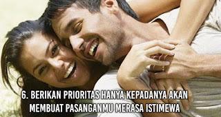 Berikan Prioritas hanya kepadanya akan membuat pasanganmu Merasa Istimewa