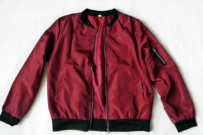 rosegal.com Baseball Long Sleeve Stand Collar Jacket
