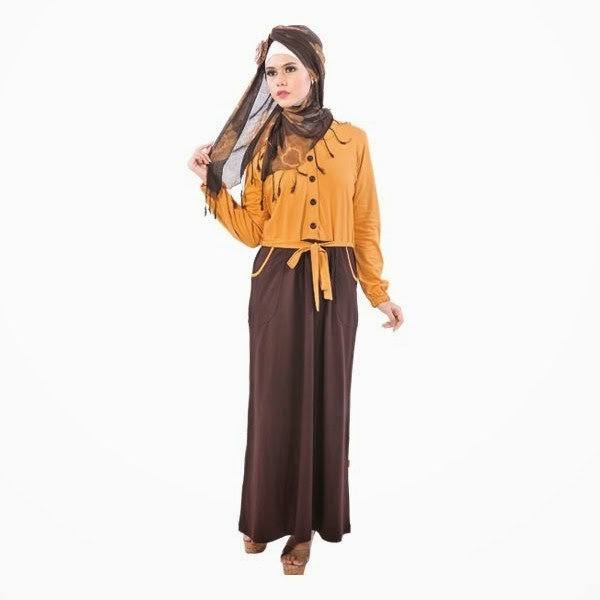 Desain Model Baju Muslim Lebaran Modern