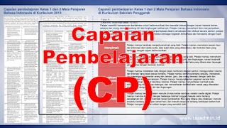 Capaian Pembelajaran CP Kurikulum