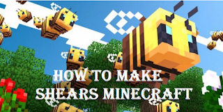 How To Make minecraft scissors or shears in minecraft