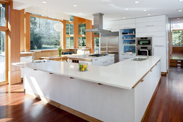 white kitchen of Chestnut Hill Residence