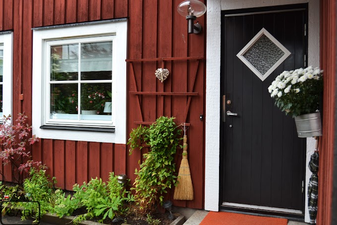 Czerwone domki, czyli spacer po Falun