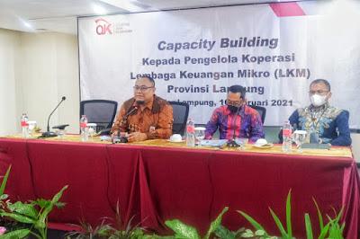 OJK Lampung Gelar Capacity Building Pengelolaan Lembaga Keuangan Mikro