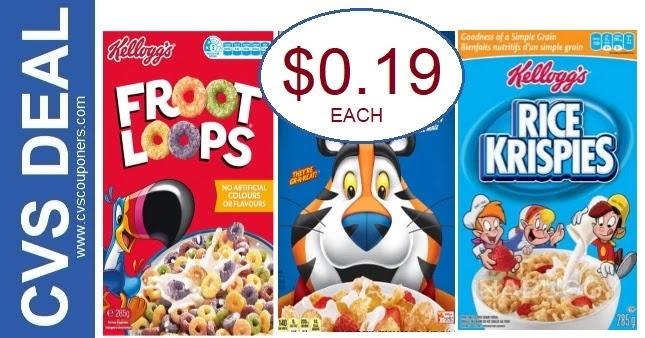 Cheap Kellogg's Cereal at CVS 7-25-7-31
