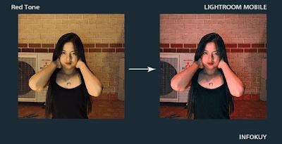 Tutorial Edit Foto Red Tone Lightroom Mobile - Pastinya Keren !