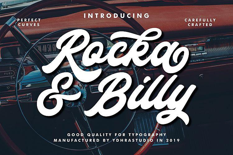 Rocka & Billy Bold Font  - Free Script Typeface