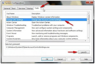 Cara menonaktifkan UAC (User Account Control) windows 7