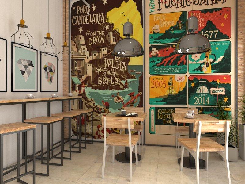 Retail design cafe mrs putu surabaya srengenge for Design interior surabaya