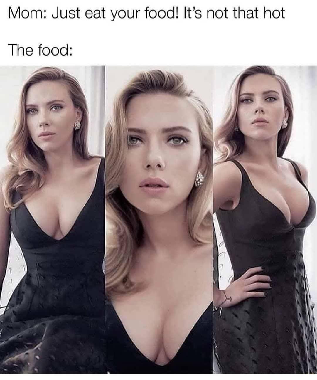 Scarlett Johansson : Eat Your Food Meme