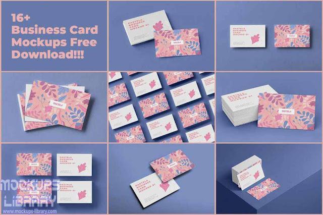 business card mockup sets