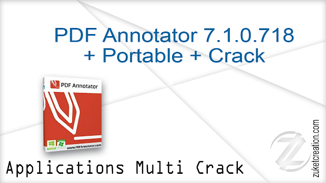PDF Annotator 7.1.0.718 + Portable + Crack     |  108 MB