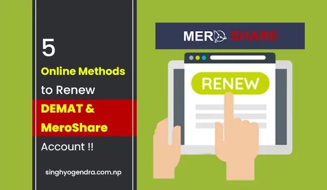 5 Online Methods to Renew Your DEMAT and MeroShare Account