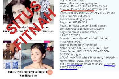 Saking Paniknya, Pasangan Prabowo-Sandi DIFITNAH Dengan Situs 'Skandal Sandiaga Uno'