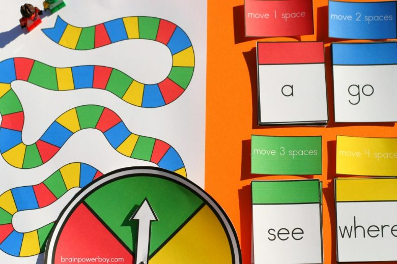 printable games for kids - Sight word board game