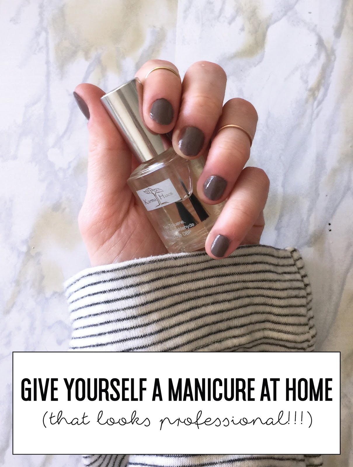 How to Give Yourself a Proper Manicure at Home + a Giveaway!!! **CLOSED**