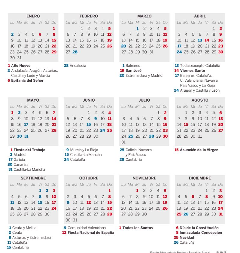 Calendario Laboral Navarra.Ccoo Smp Automotive Calendario Laboral 2017