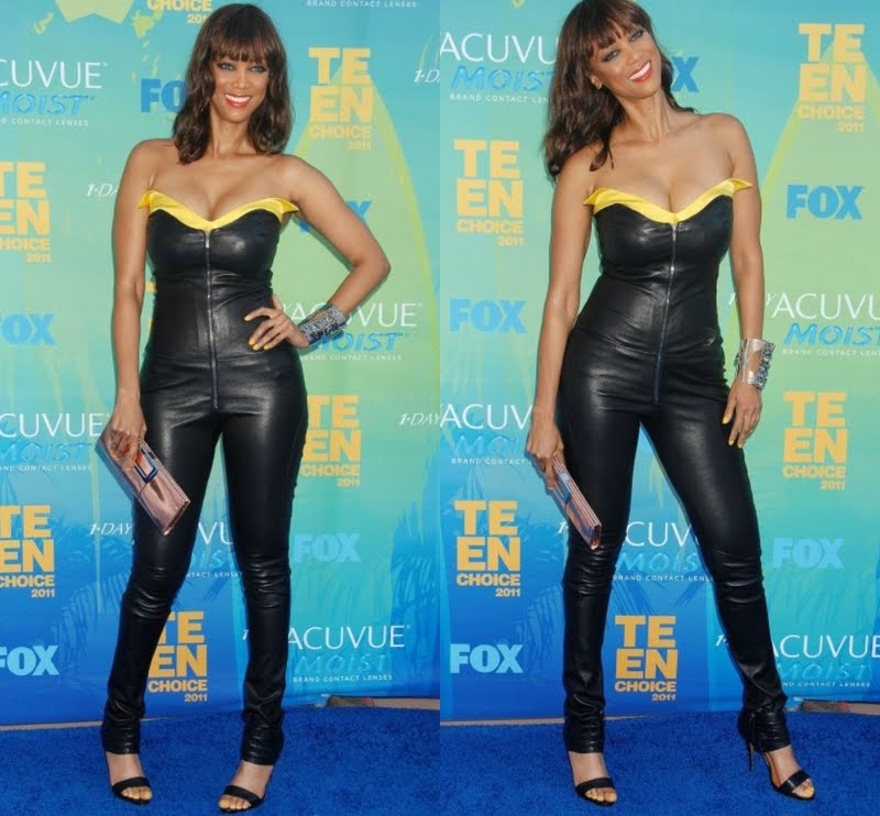 Tyra Banks Awards: SPOTTED: TYRA BANKS ROCKING A CATSUIT @ THE TEEN CHOICE