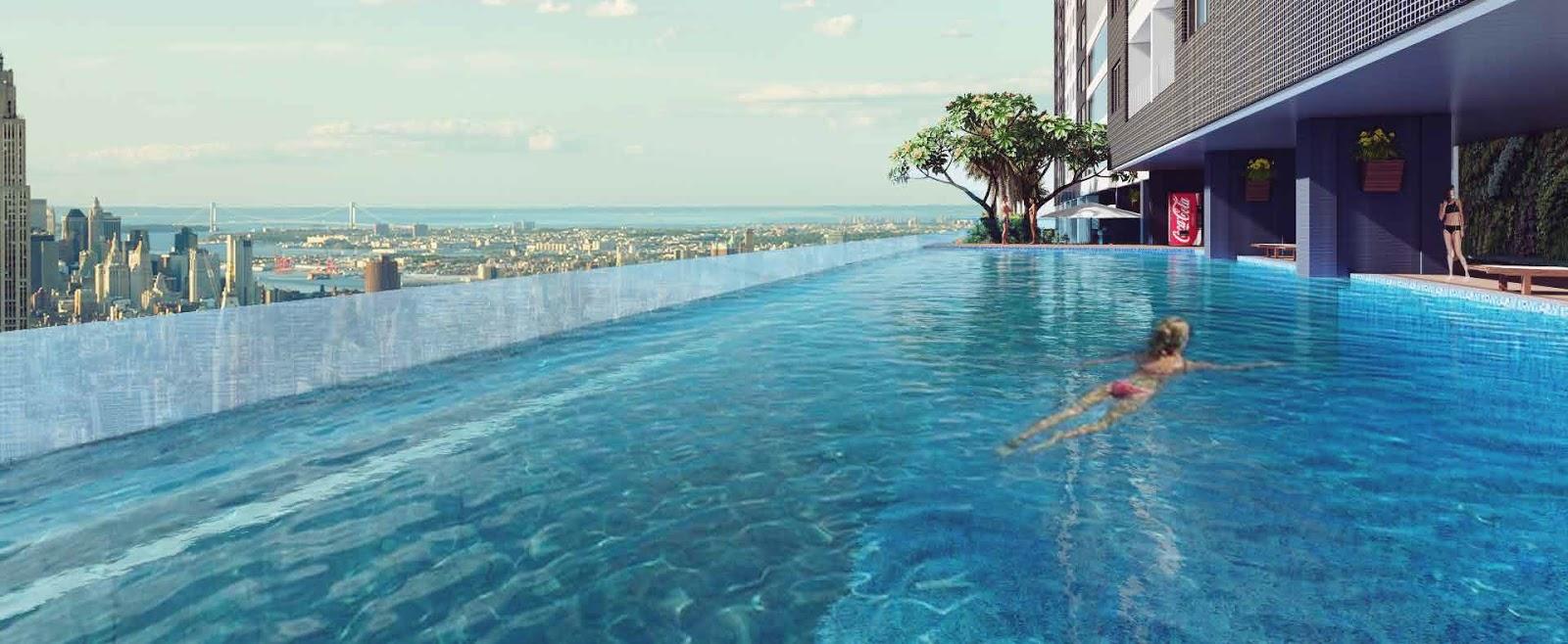 Bể bơi bốn mùa tại chung cư Golden Palm