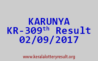 KARUNYA Lottery KR 309 Results 2-9-2017