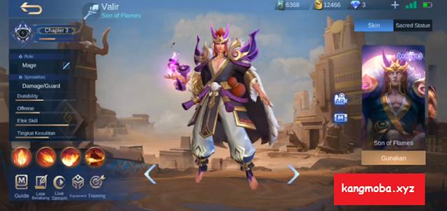 Skin Collector Valir Demonlord Full Effect Mobile Legends