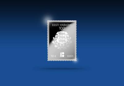eesti vabariik 100 margi 2018 silver