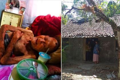 Viral ! Lumpuh Sakit - sakitan Ditelantarkan 4 Anaknya, Kakek 98 Tahun Sampai Tak Mandi 9 Bulan